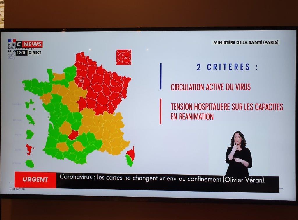 Carte du Coronavirus. Sans surprise, Paris voit rouge