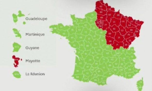 Carte du déconfinement. Du rouge et des restrictions pour Paris